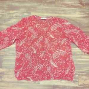 St. John's bay blouse red 2x